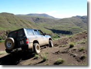 The Lesotho mountains